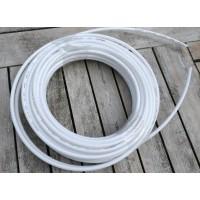 """Plastslange hvid 1/4"""", 1 meter"""