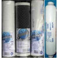 Filtersæt 3 x (10 x 2,5'') + inline kulfilter