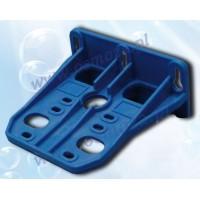 Monteringsbeslag til 1 filterhus, blåt