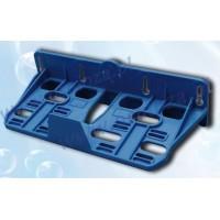Monteringsbeslag til 2 filterhuse, blåt