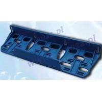 Monteringsbeslag til 3 filterhuse, blåt