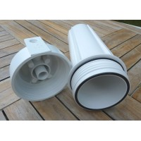 Filterhus 10'' x 2.5'', hvidt,1/4'' gevind, kun plast