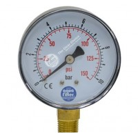 "Manometer med 1/4"" udv. messinggevind"