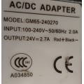 Strømforsyning 24V og 2.7A